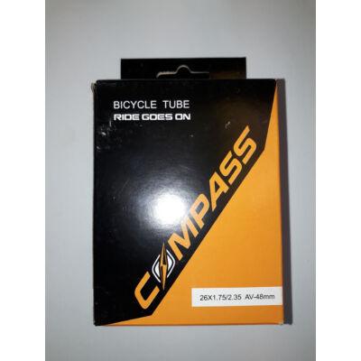 """Compass 26x1.75-2.35"""" autó szelepes belső gumi"""