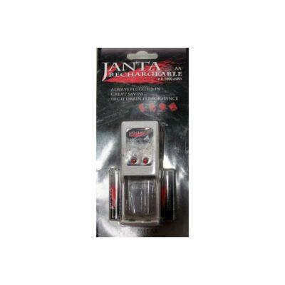 Janta 2db AA akkumulátor és töltő
