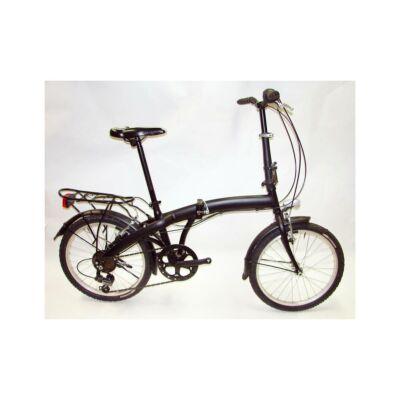 Palazzo Pocket összehajtható, városi kerékpár, 6 sebességes, fekete